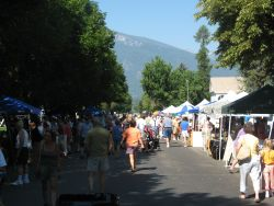 Farmers market in the Bitterroot Valley of Western Montana
